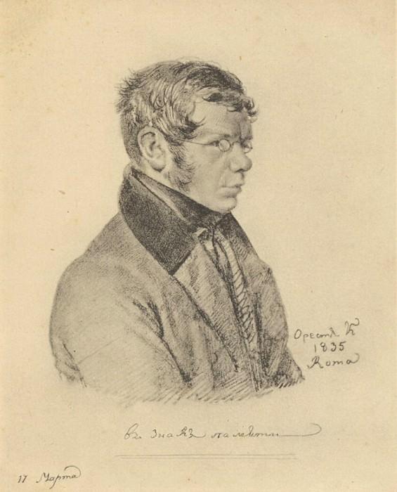 Portrait of Prince Pyotr Andreevich Vyazemsky. 1835. MP STD. Orest Adamovich Kiprensky