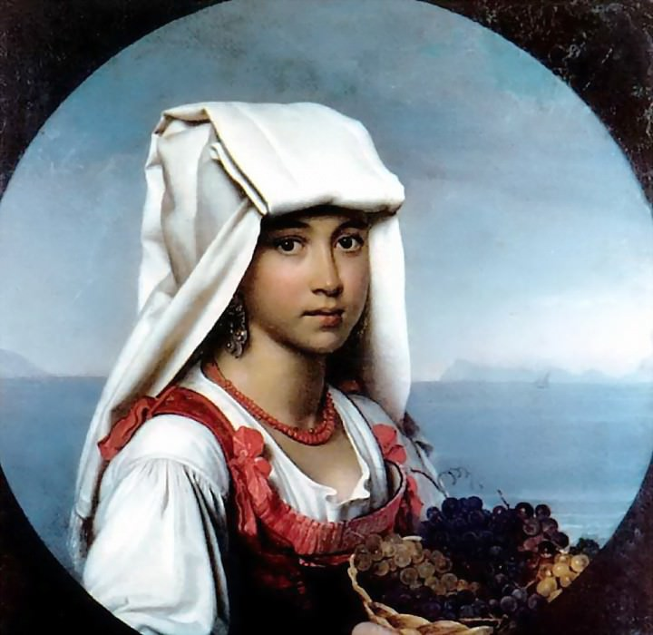 Neapolitan girl with the fruits of H. 1831, m. Chisinau. Orest Adamovich Kiprensky