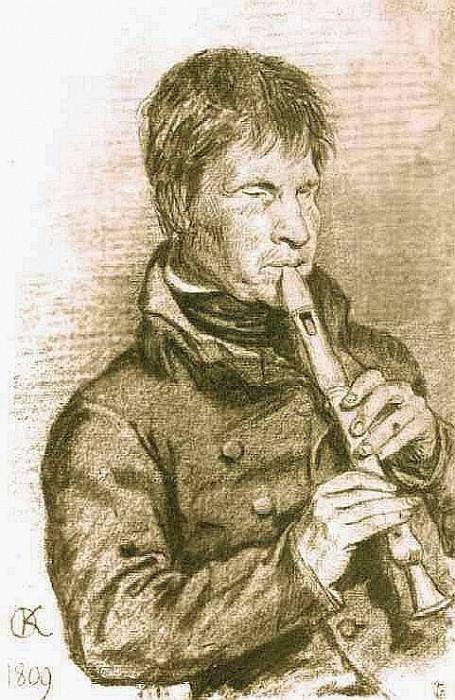 blind musician. 1809 figure. GRM. Orest Adamovich Kiprensky