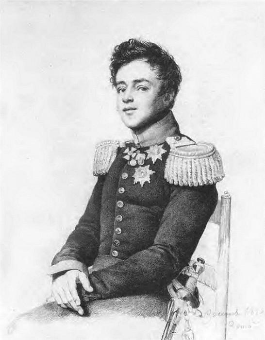 Portrait of Grand Duke Mikhail Pavlovich. 1819. B., um. c. 36. 9h27. 3. GTG. Orest Adamovich Kiprensky