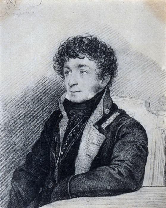 Portrait of Konstantin Batyushkov. 1815. B., um. c. 22. 5h18. 5. GLM, M.. Orest Adamovich Kiprensky