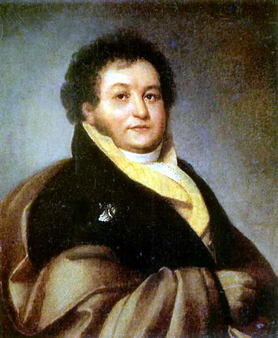Portrait P. Litta (P-t gr. VV Musina - Pushkin - Bruce q). 1813 Oil on canvas, 74h62 MT, M.. Orest Adamovich Kiprensky