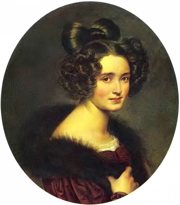 Portrait Competition Alexandrovna Rumin. 1826. H., m. 62. 3h53. 5 RM. Orest Adamovich Kiprensky