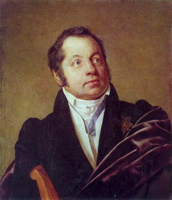 Portrait of the unknown. Ok. 1830. Donetsk. Orest Adamovich Kiprensky