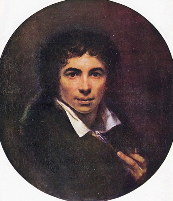 Self-portrait. 1820 Uffizi. Orest Adamovich Kiprensky