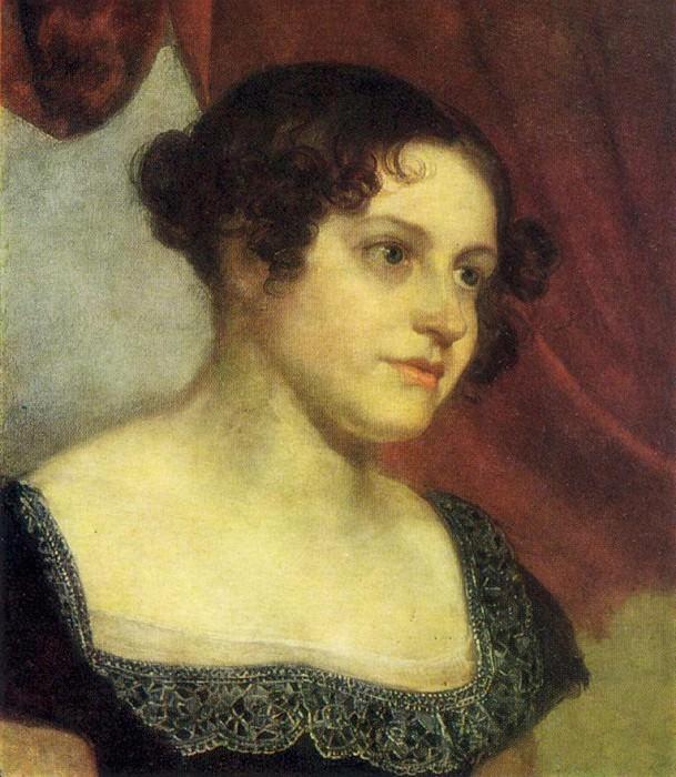 Portrait of Anna Feodorovna Furman. Until 1816. Oil on canvas. 42, 5h33, 2. GRM. Orest Adamovich Kiprensky