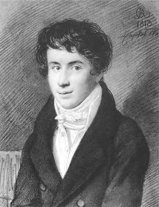 Portrait of Nikita Mikhailovich Muraviova. 1813. B., um. K. GLM, M.. Orest Adamovich Kiprensky