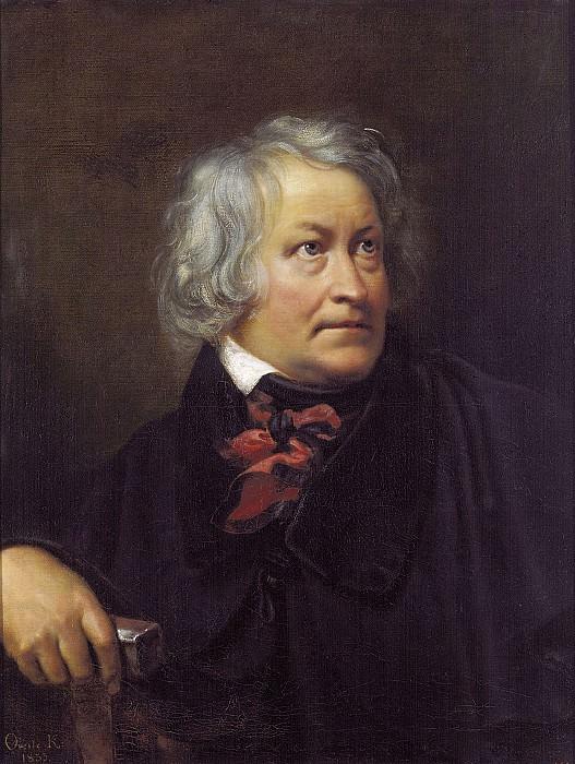 Portrait of the Danish sculptor Bertel Thorvaldsen. 1831 Oil on canvas. 79, 5h65 RM. Orest Adamovich Kiprensky