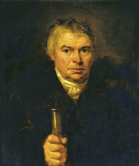 Portrait of the artists father, Adam Karlovich Schwalbe. 1804 AD, m. 78, 2h64, 1 RM. Orest Adamovich Kiprensky