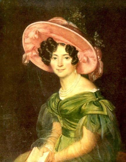 Portrait ZA Volkonskaya. 1829. Orest Adamovich Kiprensky