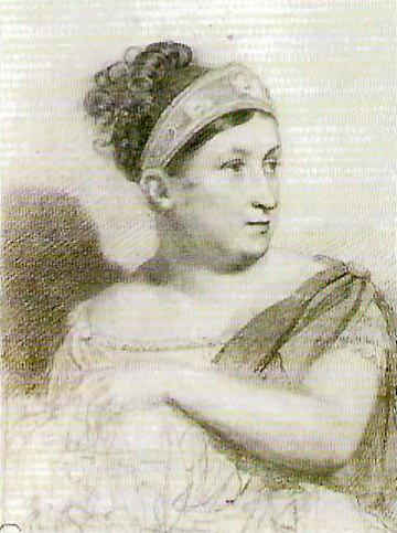 Portrait ES Semenova. Ok. 1815.. Orest Adamovich Kiprensky