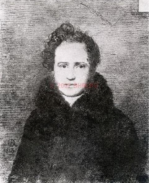 Portrait of Prince G. Gagarin. 1813 GMM. Orest Adamovich Kiprensky