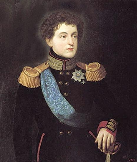 Portrait of Grand Duke Nicholas. 1814. Pavlovsk Palace Museum. Orest Adamovich Kiprensky