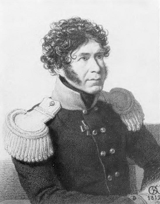 Портрет неизвестного военного. 1812 Ит. к. , б. , 32. 5x29 ГРМ. Орест Адамович Кипренский