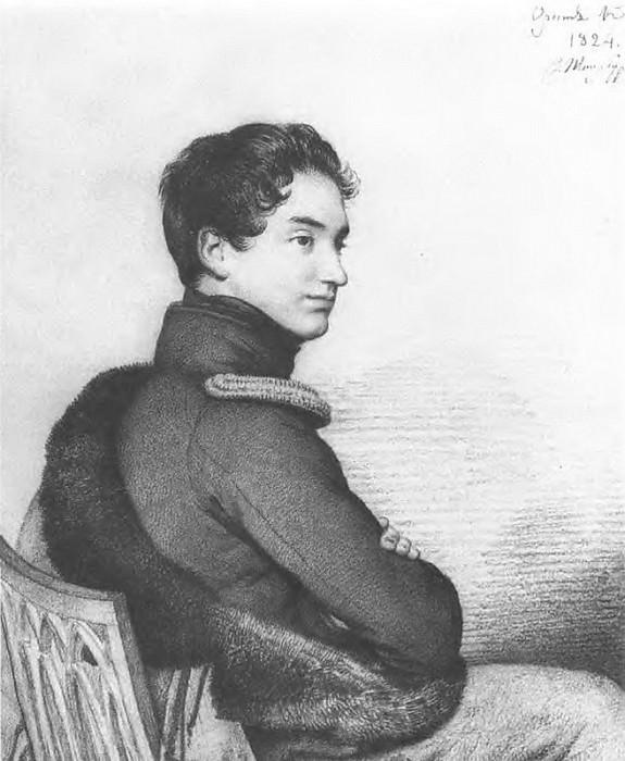 Portrait of Count Sergei Petrovich. Buturlin. 1824 BA, um. c., Sang. 31. 7h26. 7 TG. Orest Adamovich Kiprensky