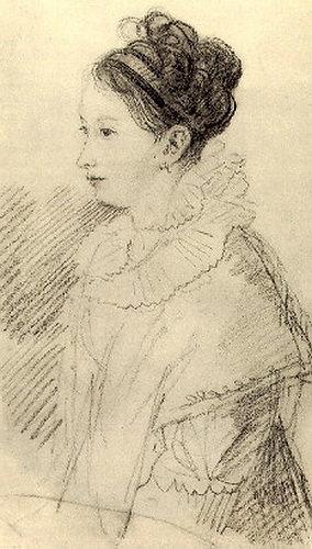 Portrait EP Bakunin. 1811-13 BA, um. c. 23h12 GMF, St. Petersburg. Orest Adamovich Kiprensky