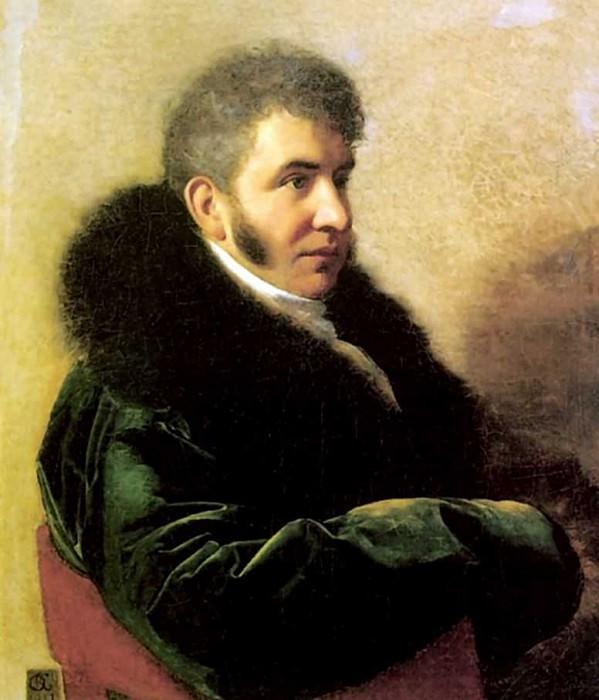 Portrait of Prince Ivan Gagarin 1811 H., M. 80h69 RM. Orest Adamovich Kiprensky