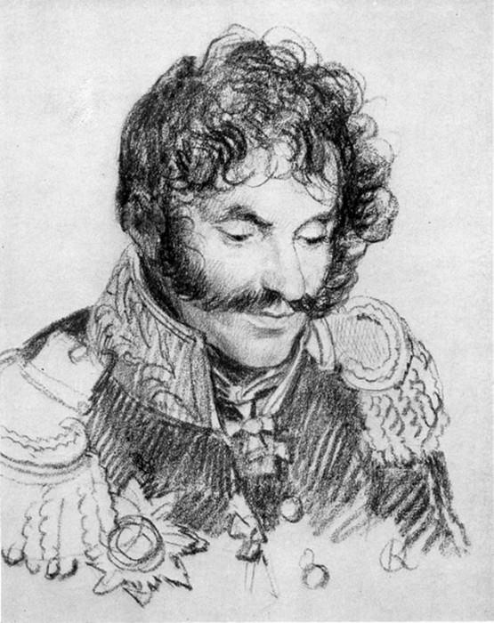 Portrait of General EI Chaplits. 1813. B., um. c. 23. 8x18. 9. GTG. Orest Adamovich Kiprensky