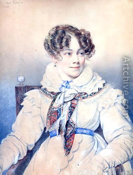 Портрет Софии Ростопчиной, гр. Сегур. 1823 Musee Carnavalet, Paris. Орест Адамович Кипренский