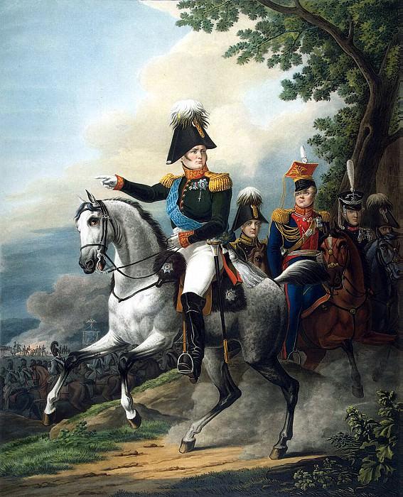 Equestrian portrait of Alexander I. 1820-e. L. Paul the original Kiprensky. Hermitage. Orest Adamovich Kiprensky