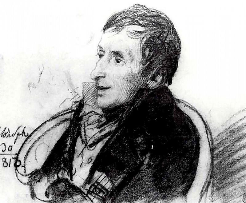 Portrait of AN Olenin. 1813. B., um. c. 18. 8h22. 9. GRM. Orest Adamovich Kiprensky