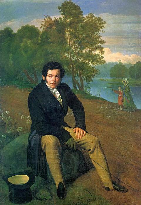 Портрет К. И. Альбрехта. 1827 Х. , м. ГРМ. Орест Адамович Кипренский