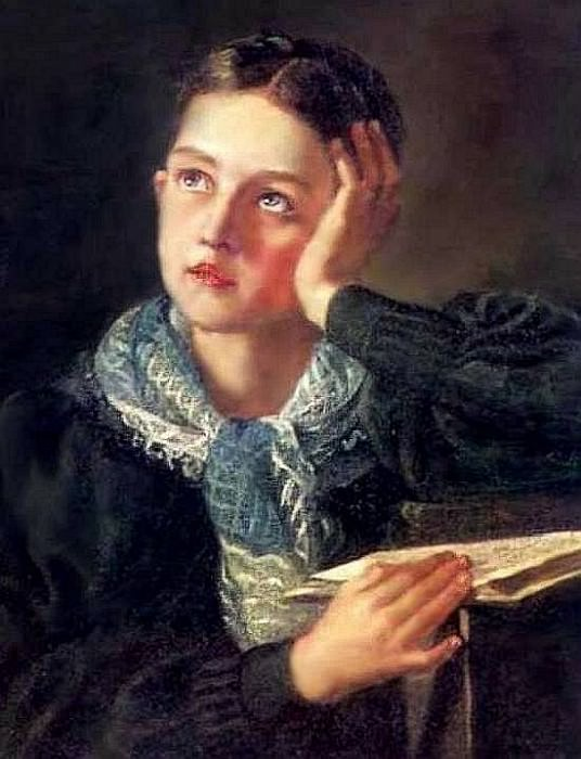 Dreamer. 1826-27 Oil on canvas. Tver. Orest Adamovich Kiprensky