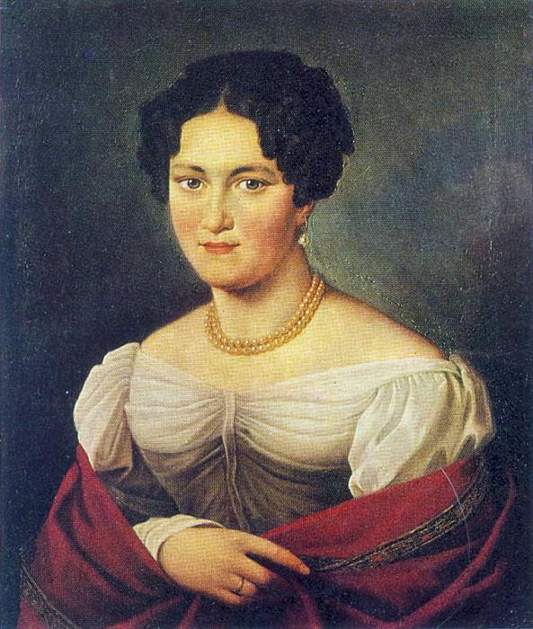 Portrait of an unknown. 1820. Parkhomovka. Orest Adamovich Kiprensky