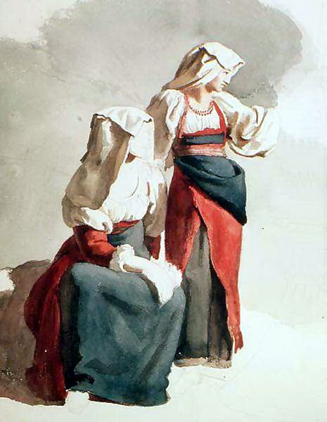 Italian villager (Italian Peasant Girls).. Orest Adamovich Kiprensky