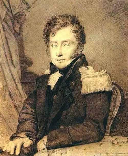 Портрет Гурко. 1814 Ит. к. , б. ГРМ. Орест Адамович Кипренский