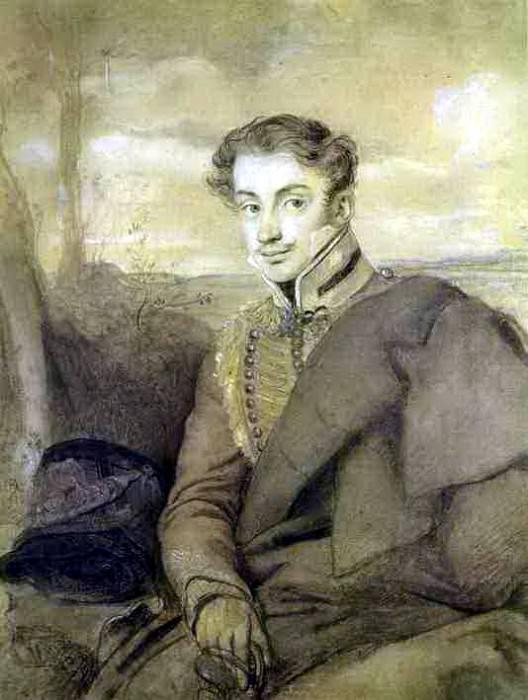 Portrait AI Dmitriev - Mamonov. 1815. Italian pencil, pastel, charcoal on paper. RM. JPG. Orest Adamovich Kiprensky