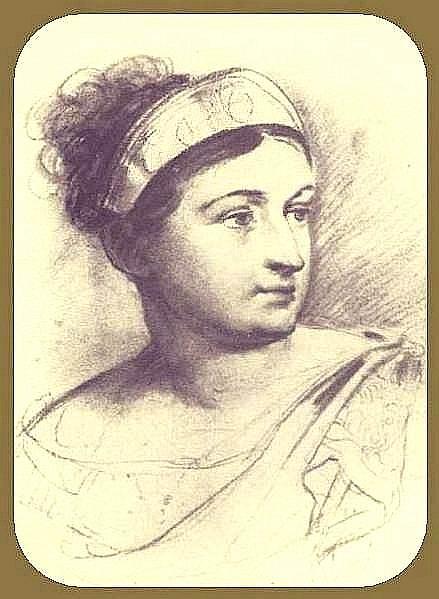 Portrait ES Semenova. GMP 1815, St. Petersburg. Orest Adamovich Kiprensky