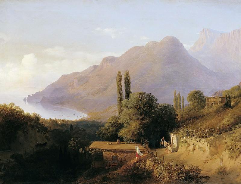 Crimean landscape. Canvas. Lev Lagorio