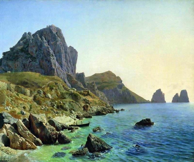 На острове Капри. Береговые утесы. 1859. Лев Феликсович Лагорио