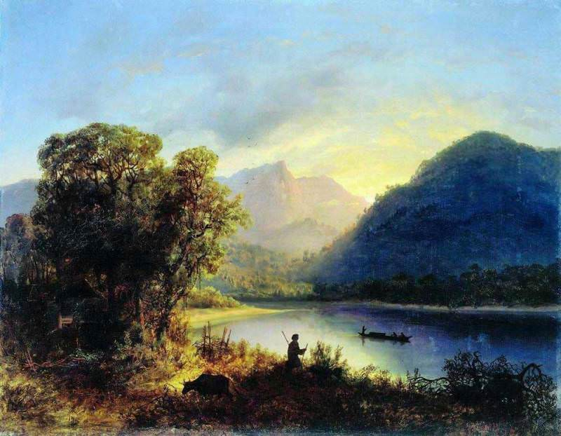 Mountain Lake. 1852. Lev Lagorio