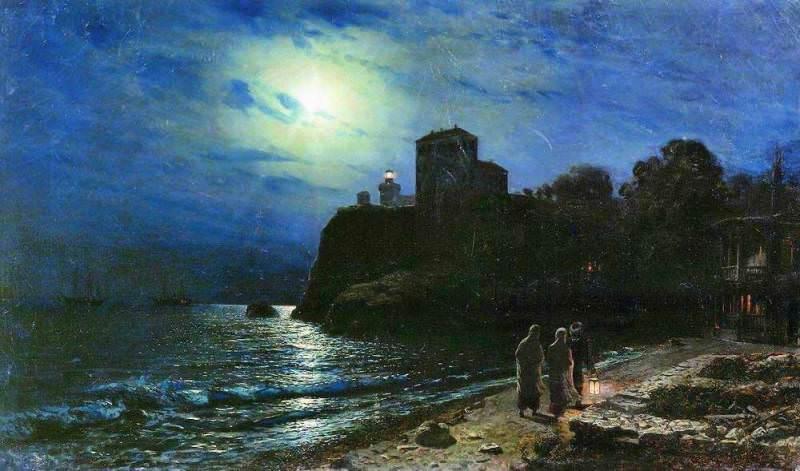 Лунная ночь на море. 1886. Лев Феликсович Лагорио