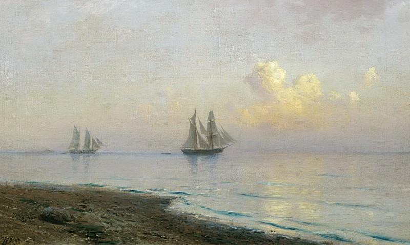Seascape with sailboats. 1891. Lev Lagorio
