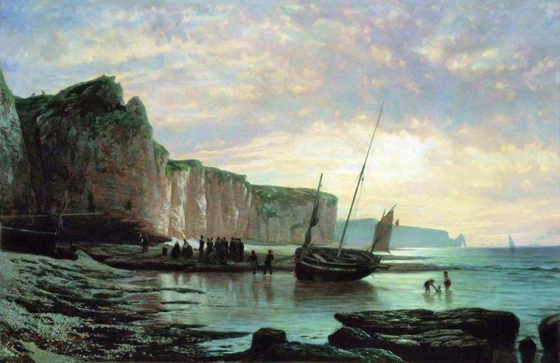 Normandy Beach. 1859. Lev Lagorio