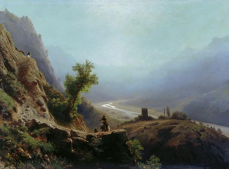 В горах Кавказа. 1879. Холст, масло. Лев Феликсович Лагорио