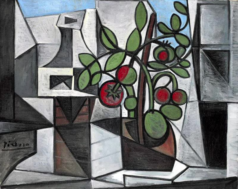 1944 Carafe et plant de tomate. Pablo Picasso (1881-1973) Period of creation: 1943-1961