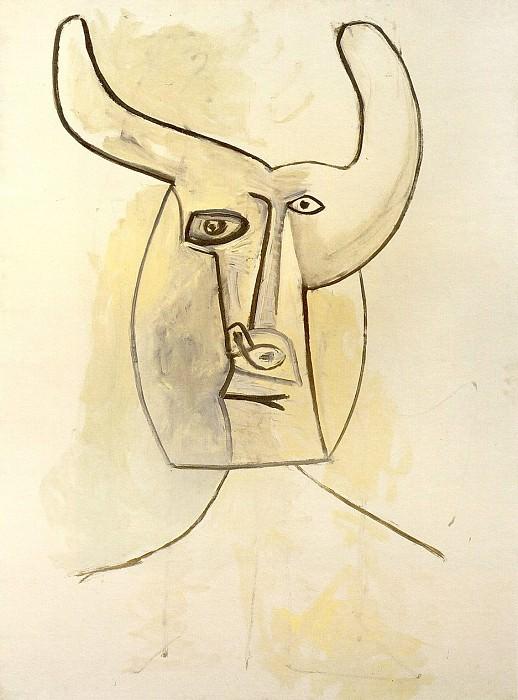1958 TИte cornue II. Пабло Пикассо (1881-1973) Период: 1943-1961