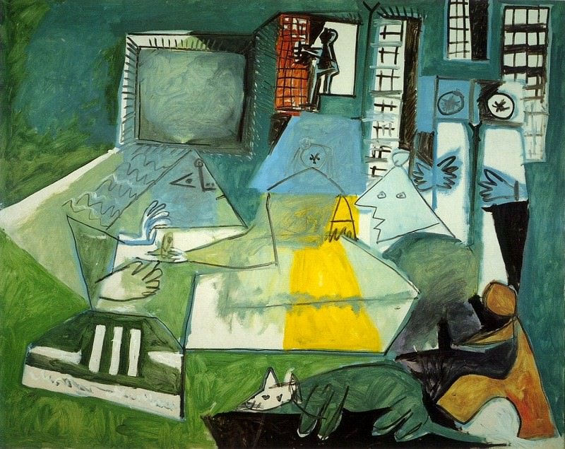 1957 Les Menines- Vue densemble sauf VВlasquez (Velаzquez). Pablo Picasso (1881-1973) Period of creation: 1943-1961