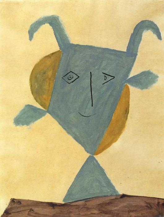 1946 TИte de faune vert. Пабло Пикассо (1881-1973) Период: 1943-1961