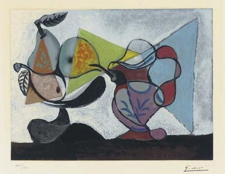 1960 Nature morte aux poires et au pichet. Pablo Picasso (1881-1973) Period of creation: 1943-1961
