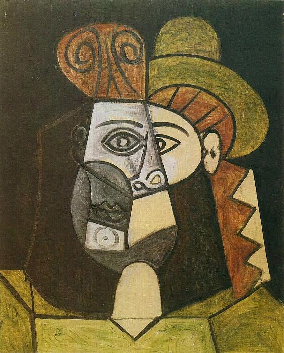 1947 TИte de femme. Pablo Picasso (1881-1973) Period of creation: 1943-1961