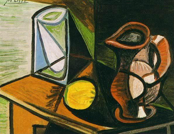 1944 Verre et pichet. Pablo Picasso (1881-1973) Period of creation: 1943-1961