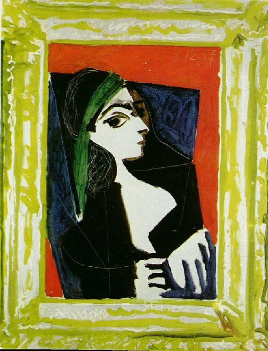 1957 Portrait de Jacqueline 1. Pablo Picasso (1881-1973) Period of creation: 1943-1961