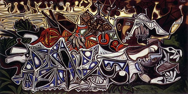 1950 Les demoiselles au bord de la Seine (Courbet). Pablo Picasso (1881-1973) Period of creation: 1943-1961
