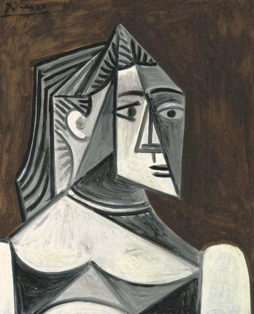 1956 Buste de femme II. Pablo Picasso (1881-1973) Period of creation: 1943-1961