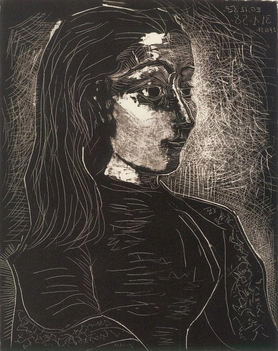 1958 Jacqueline de profil droit III. Pablo Picasso (1881-1973) Period of creation: 1943-1961